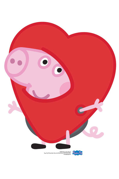 George Pig Valentine's Heart Cardboard Cutout / Standee