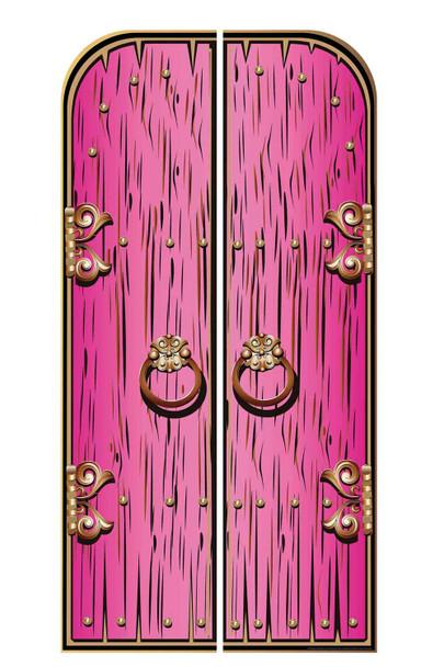 Magical Fantasy Pink Double Doors Cardboard Decor