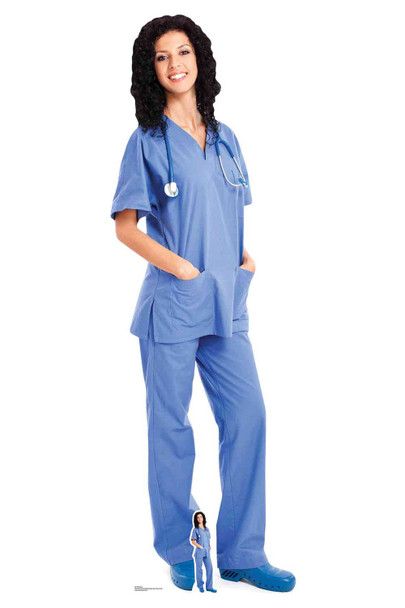 Doctor Nurse Health Worker Lifesize Cardboard Cutout / Standee / Standup