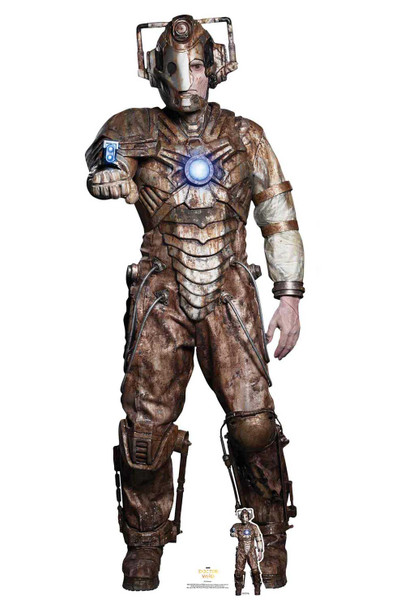 Ashad The Lone Cyberman from The 13th Doctor Who Official Cardboard Cutout