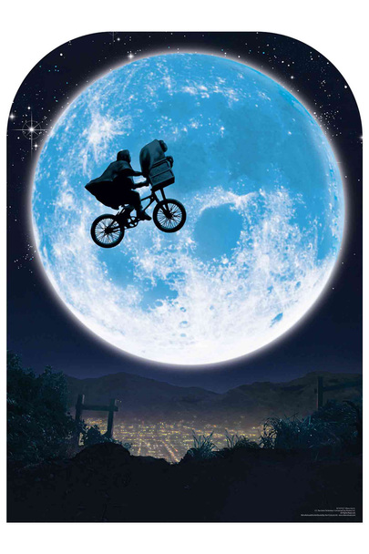 ET Full Moon Cycle Flight Scene Setter Cardboard Cutout