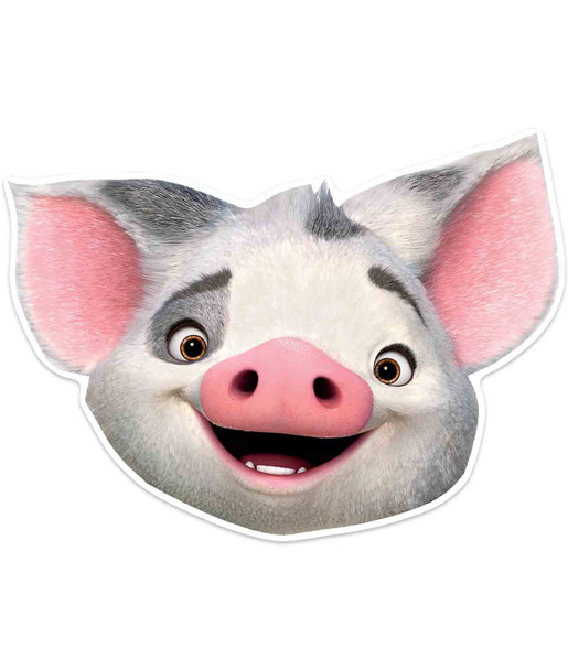 Pua Pig Official Disney Moana Child Size 2D Card Party Mask