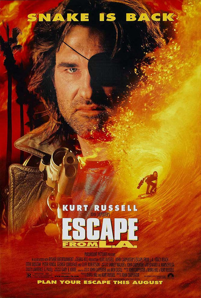 Escape from L.A. Original Movie Poster Final Style - UV Coated