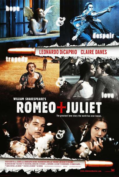 William Shakespeare's Romeo + Juliet (1996) Original Movie Poster International Style