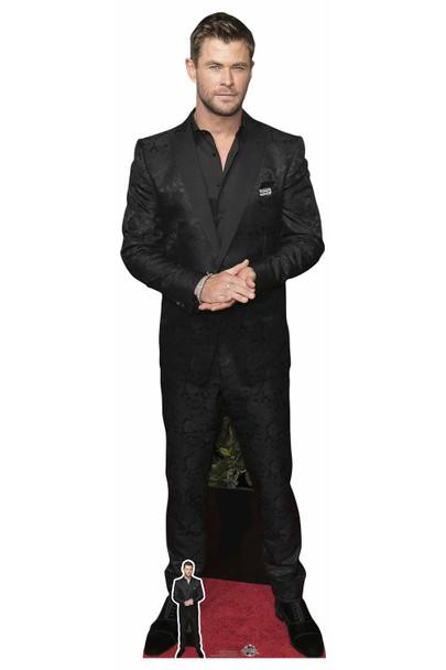 Chris Hemsworth Black Shirt Celebrity Lifesize Cardboard Cutout