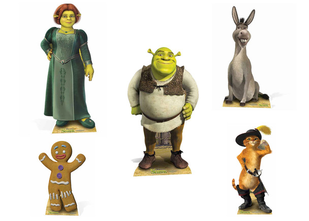 Shrek Lifesize Cardboard Cutout Party Pack - Set of 5
