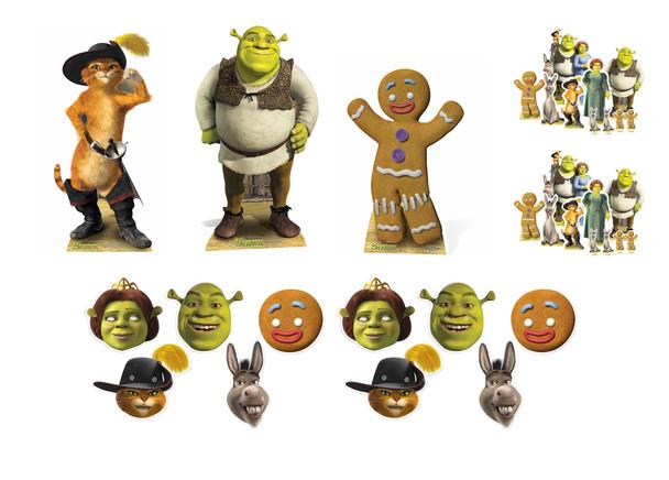 Shrek Mini Variety Cardboard Cutout Party Pack - 7 Piece