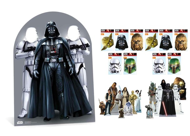 Star Wars Party Pack with Cardboard Stand In, Masks and Tabletop