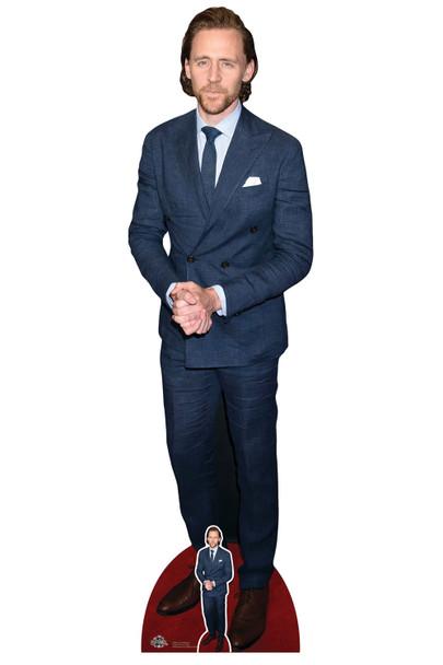 Tom Hiddleston Blue Tie Celebrity Cardboard Cutout / Standee
