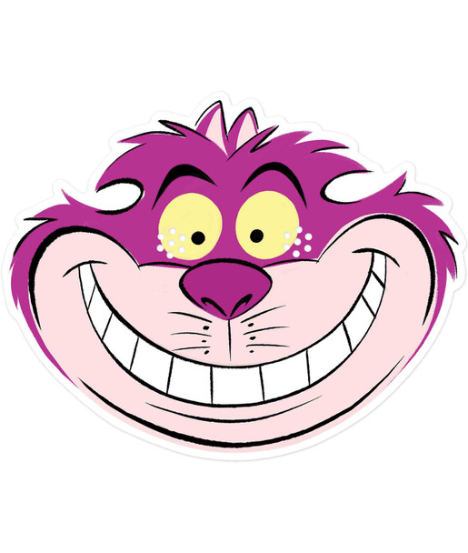 Cheshire Cat from Alice in Wonderland Official Disney 2D Card Party Mask