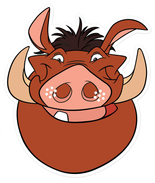 Pumbaa from The Lion King Official Disney 2D Card Party Mask