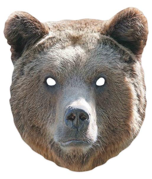 Bear 2D Animal Single Card Party Mask