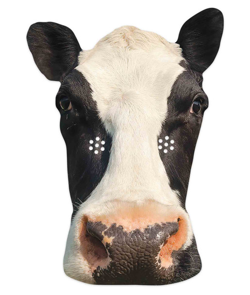 Cow 2D Animal Single Card Party Mask