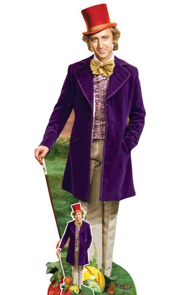 Willy Wonka Lifesize and Mini Cardboard Cutout / Standee