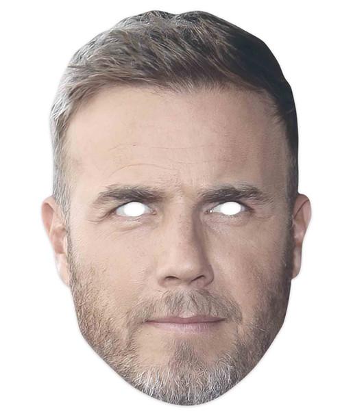 Gary Barlow Celebrity Singer 2D Single Card Party Mask