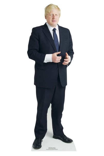 Boris Johnson British Prime Minister Mini Cardboard Cutout