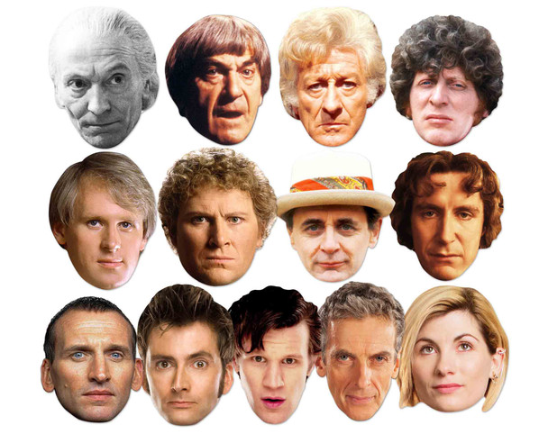 Doctor Who 2D Card Party Face Masks Complete Set of 13