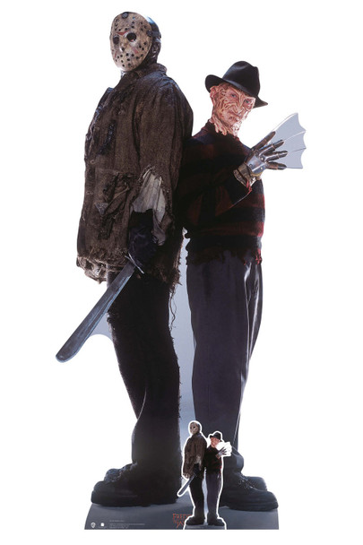 Freddy Krueger and Jason Voorhees Official Lifesize and Mini Cardboard Cutout