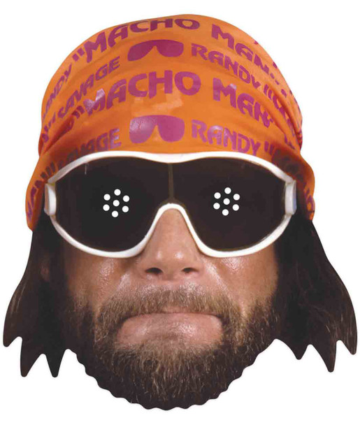 Macho Man Randy Savage WWE Wrestler Official Single 2D Card Party Face Mask