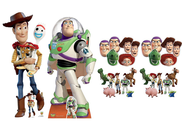 Woody and Buzz Toy Story Party Pack with Cardboard Cutouts, Masks and Tabletops