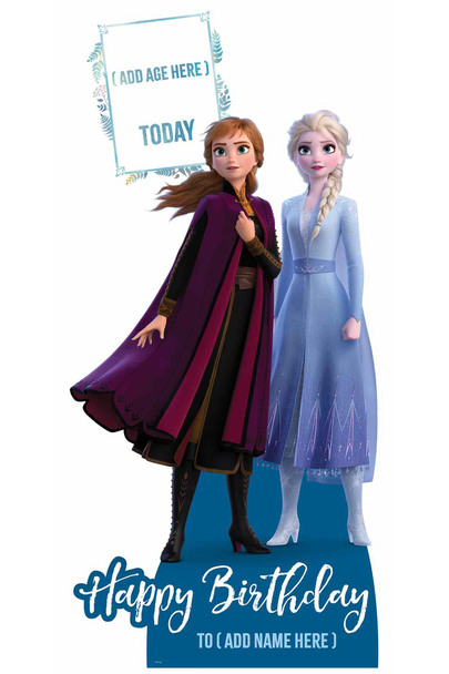 Frozen Disney Personalised Happy Birthday Cardboard Cutout / Standup