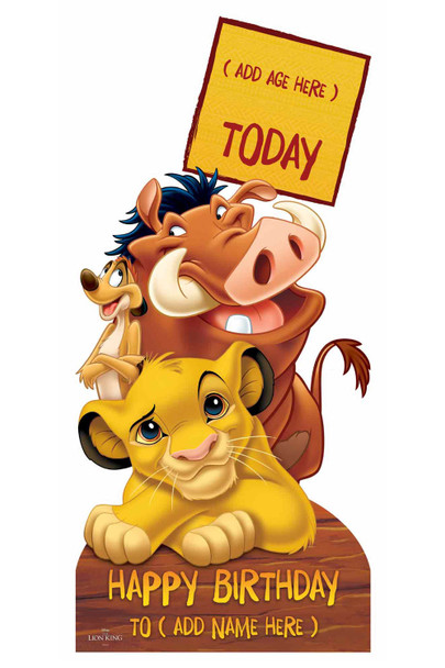 Lion King Disney Personalised Happy Birthday Cardboard Cutout / Standup