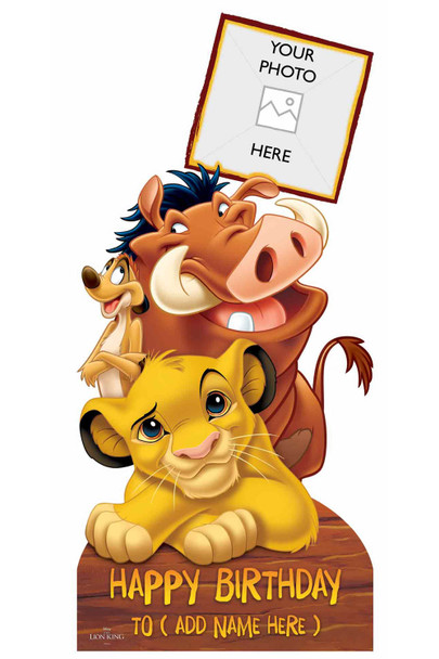 Lion King Disney Personalised Photo and Name Cardboard Cutout / Standup