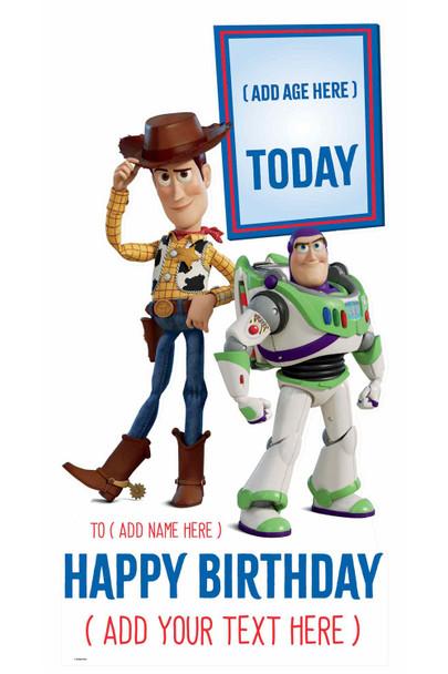 Toy Story Disney Personalised Happy Birthday Cardboard Cutout / Standup