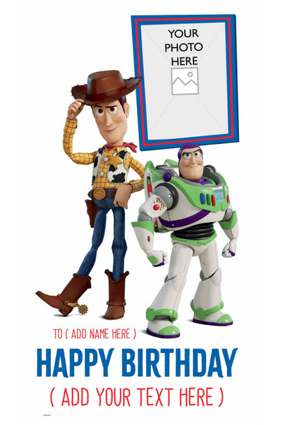 Toy Story Disney Personalised Photo and Name Cardboard Cutout / Standup