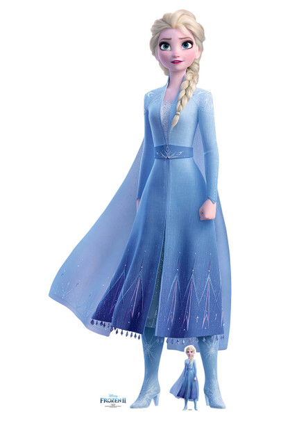 Elsa Princess of Arendelle from Frozen 2 Official Disney Cardboard Cutout with mini