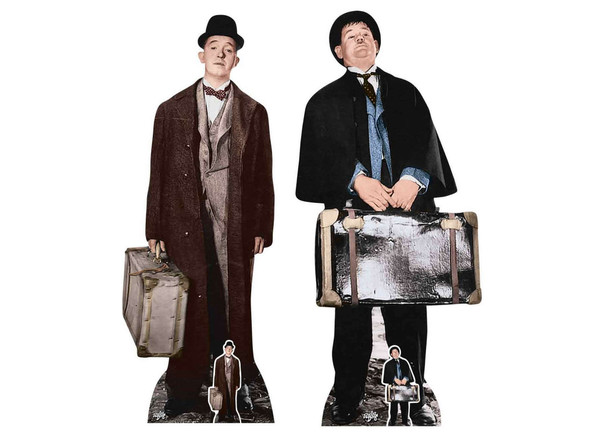 Stan Laurel and Oliver Hardy Lifesize Cardboard Cutout Twin Pack