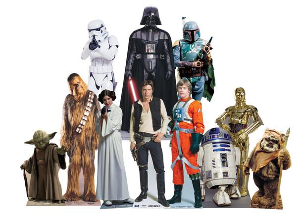 Star Wars Cardboard Cutouts Classic Trilogy Bumper Pack of 10