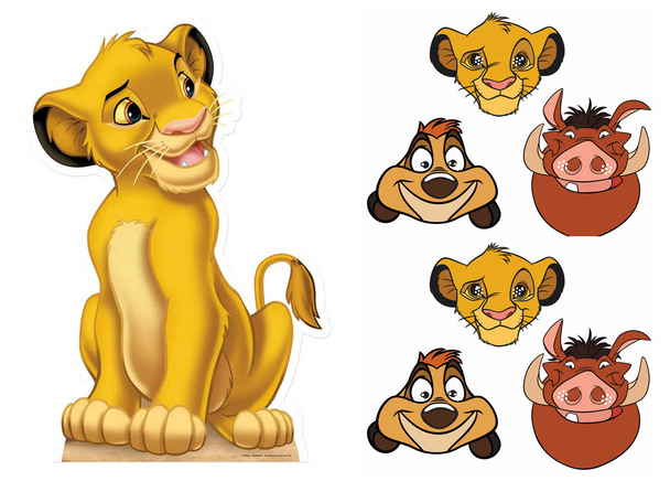Lion King Simba Cardboard Cutout and Masks Mini Party Pack