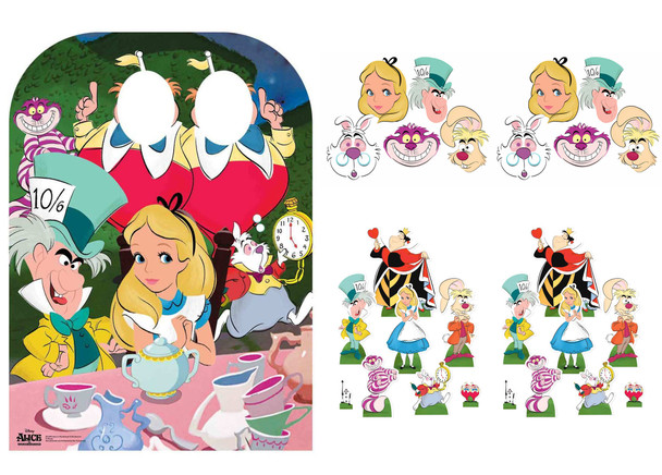 Alice In Wonderland Tea Party Cardboard Stand-in, Masks and Tabletops Collection