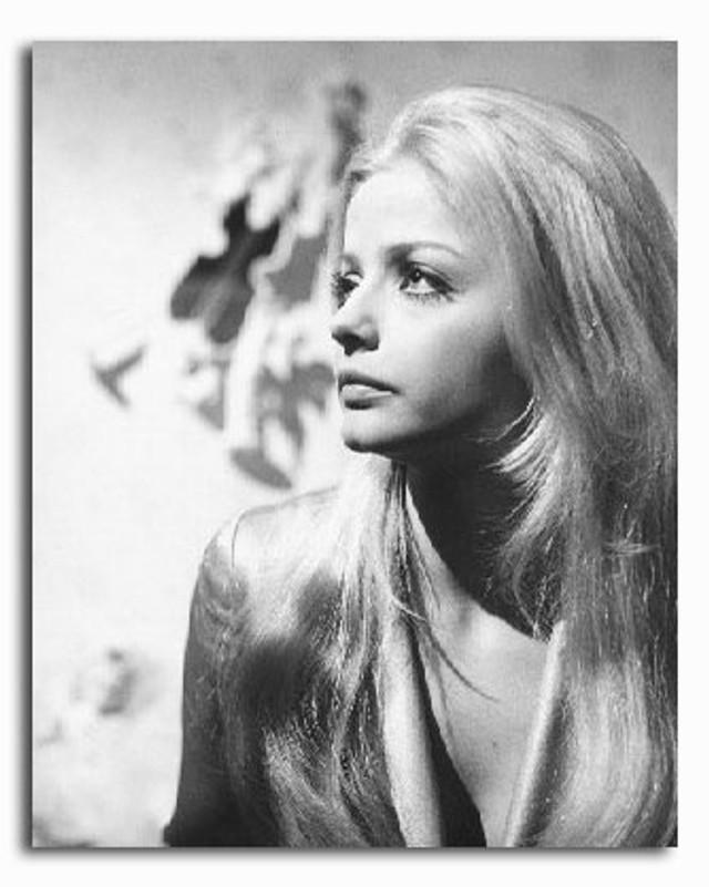 Sixties — Ewa Aulin wears a mini dress in Central Park.