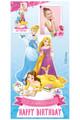 Disney Princess Personalised Photo and Name Cardboard Cutout in situ