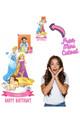 Disney Princess Personalised Photo and Name Cardboard Cutout Example 2