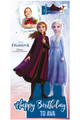 Frozen Personalised Photo and Name Cardboard Cutout / Standup Example 2