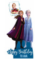 Frozen Personalised Photo and Name Cardboard Cutout / Standup in situ