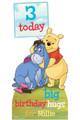 Winnie the Pooh Disney Personalised Happy Birthday Cardboard Cutout in situ