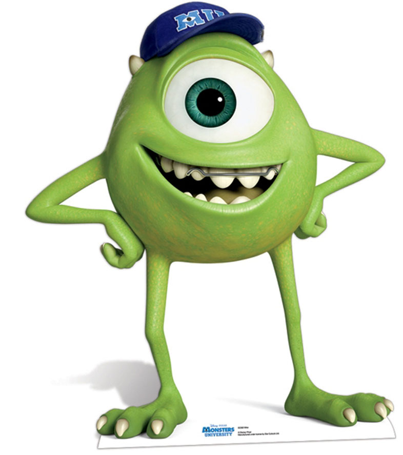 Lifesize Cardboard Cutout Of Mike Wazowski From Monsters University Buy Cutouts Standups Standees At Starstills Com