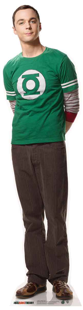 Sheldon in Green Top 456 Cardboard Cutout