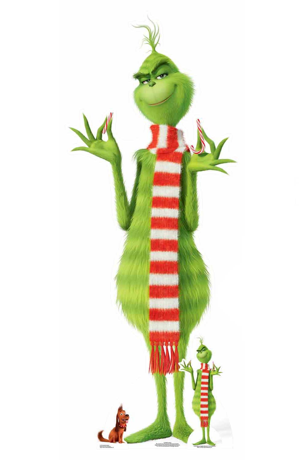 The Grinch Lifesize Cardboard Cutout Standup Standee