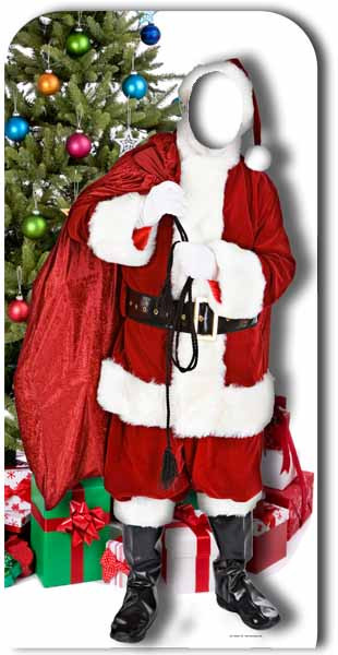 Lifesize Cardboard Cutout of Father Christmas Stand in