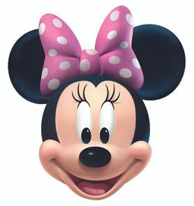 Minnie mouse face mask ssf0096 buy disney star face for Immagini da colorare di minnie
