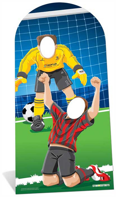 World Cup Footballer Lifesize Cardboard Stand In Cutout