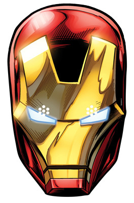 Iron Man From Marvel S The Avengers Single Card Party Face Mask Available Now At Starstills Com