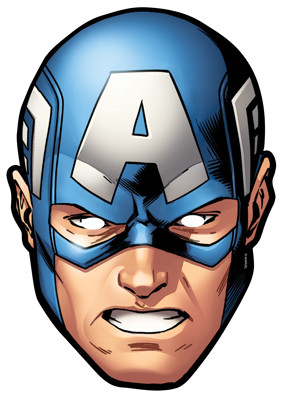 photo relating to Captain America Mask Printable named Captain The usa in opposition to Marvels The Avengers Solitary Card Bash Deal with Mask