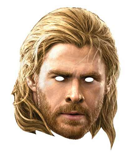 Thor Avengers Age Of Ultron Card Face Mask Available Now