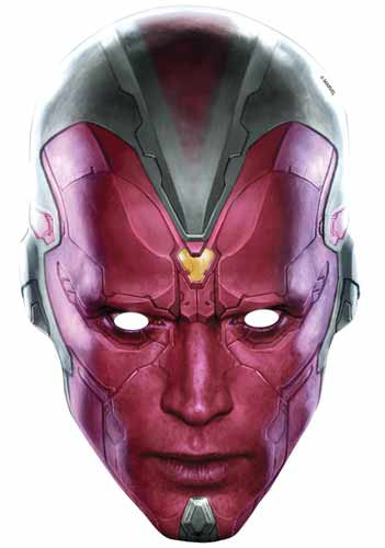 Vision Avengers Age Of Ultron Card Face Mask Available